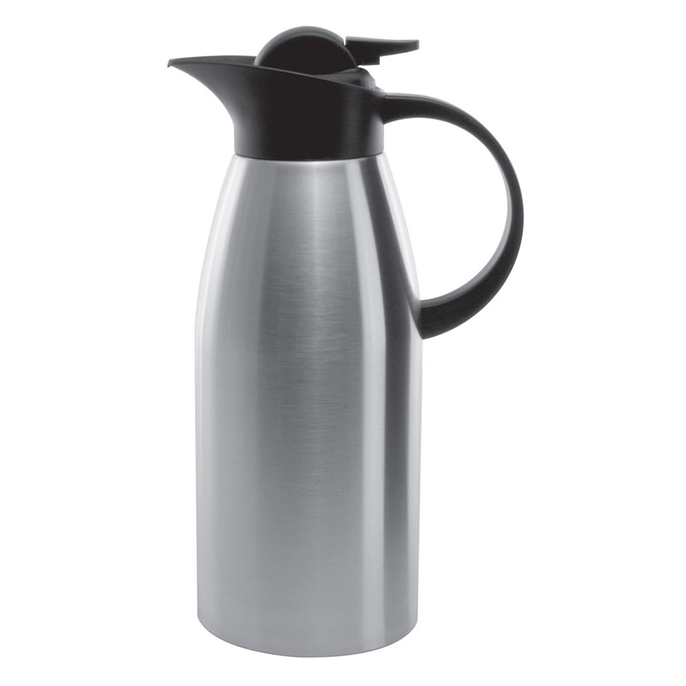 Service Ideas KVP1900 1.9-liter Stainless Touch Coffee Server, Brushed Stainless & Black