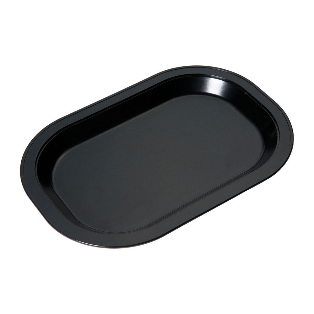 Service Ideas LO12BL Rectangular Platter Base for LO12SS, Black