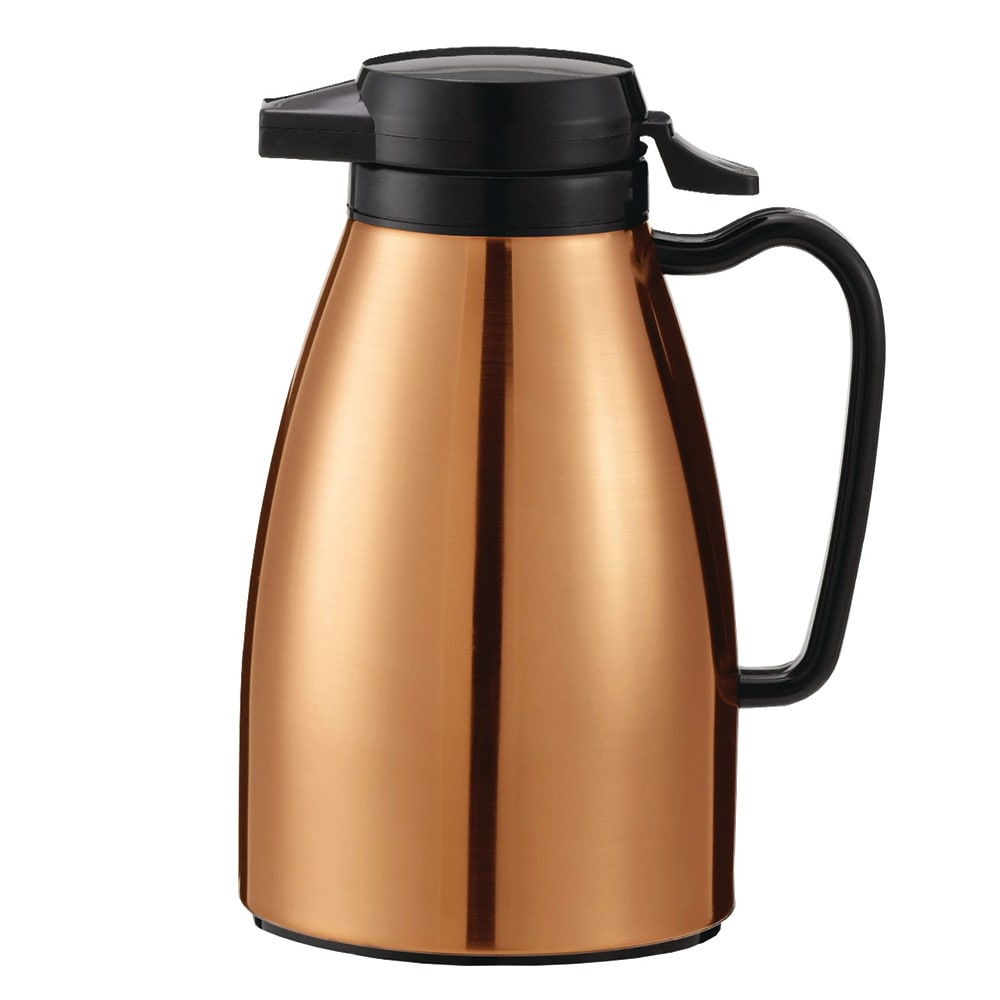Service Ideas ML501MCPBL .6 liter Coffee Server w/ Push Button Lid, Copper & Black