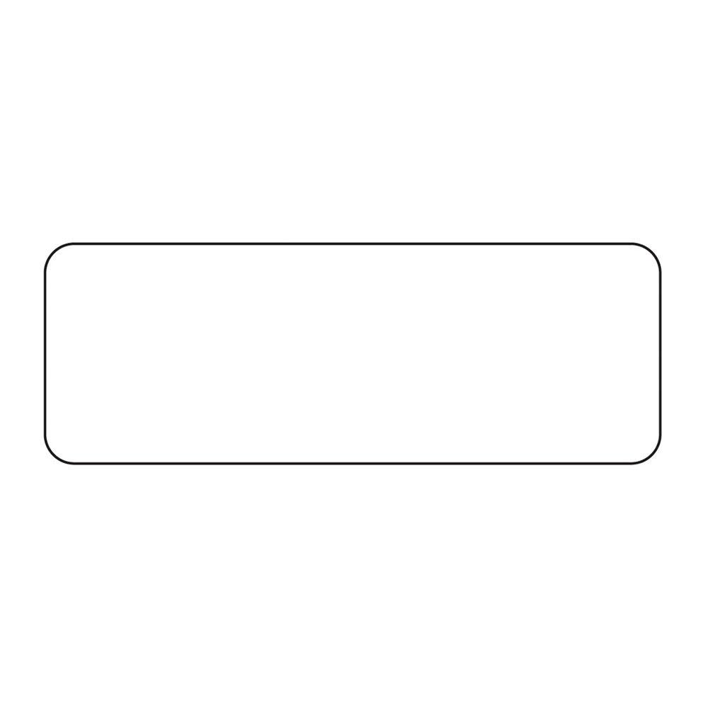 """Service Ideas MT1 ID Magnet Tag, 1.25 x 3.5"""", Blank"""