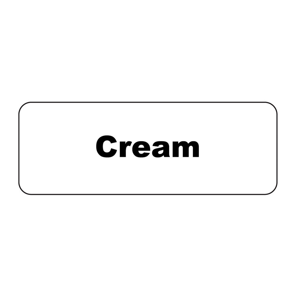 "Service Ideas MT1CR ID Magnet Tag, 1.25 x 3.5"", Cream"
