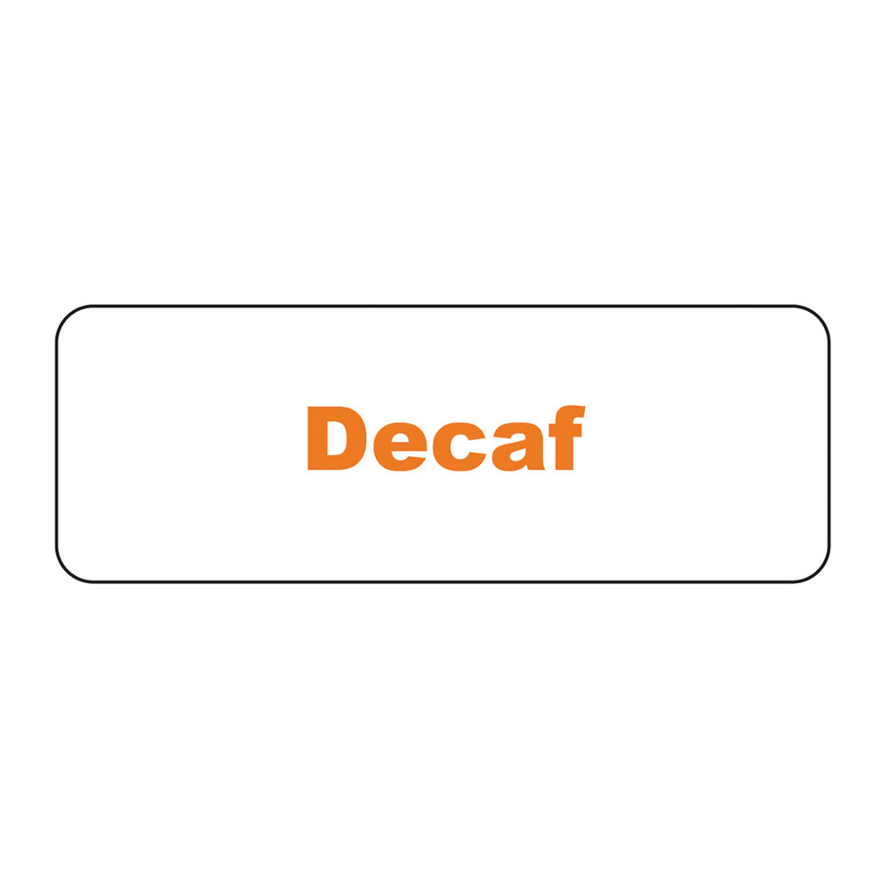 "Service Ideas MT1DE ID Magnet Tag, 1.25 x 3.5"", Decaf"
