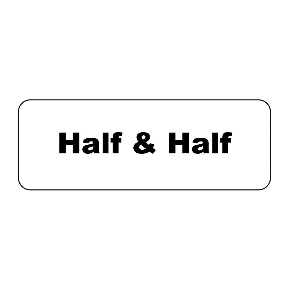 """Service Ideas MT1HH ID Magnet Tag, 1.25 x 3.5"""", Half & Half"""