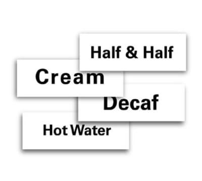 "Service Ideas MT1HW ID Magnet Tag, 1.25 x 3.5"", Hot Water"