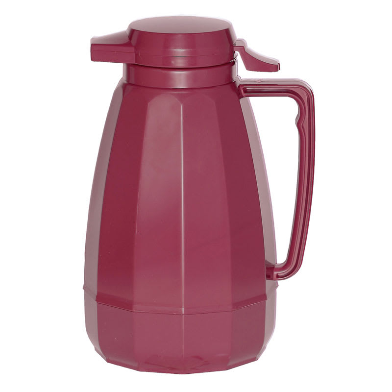 Service Ideas NG101BU 1 liter Coffee Server w/ Push Button Lid, Burgundy