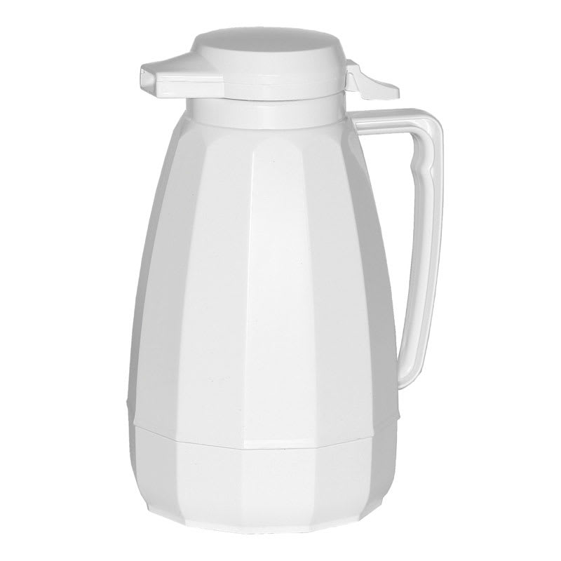 Service Ideas NG101WH 1 liter Coffee Server w/ Push Button Lid, White