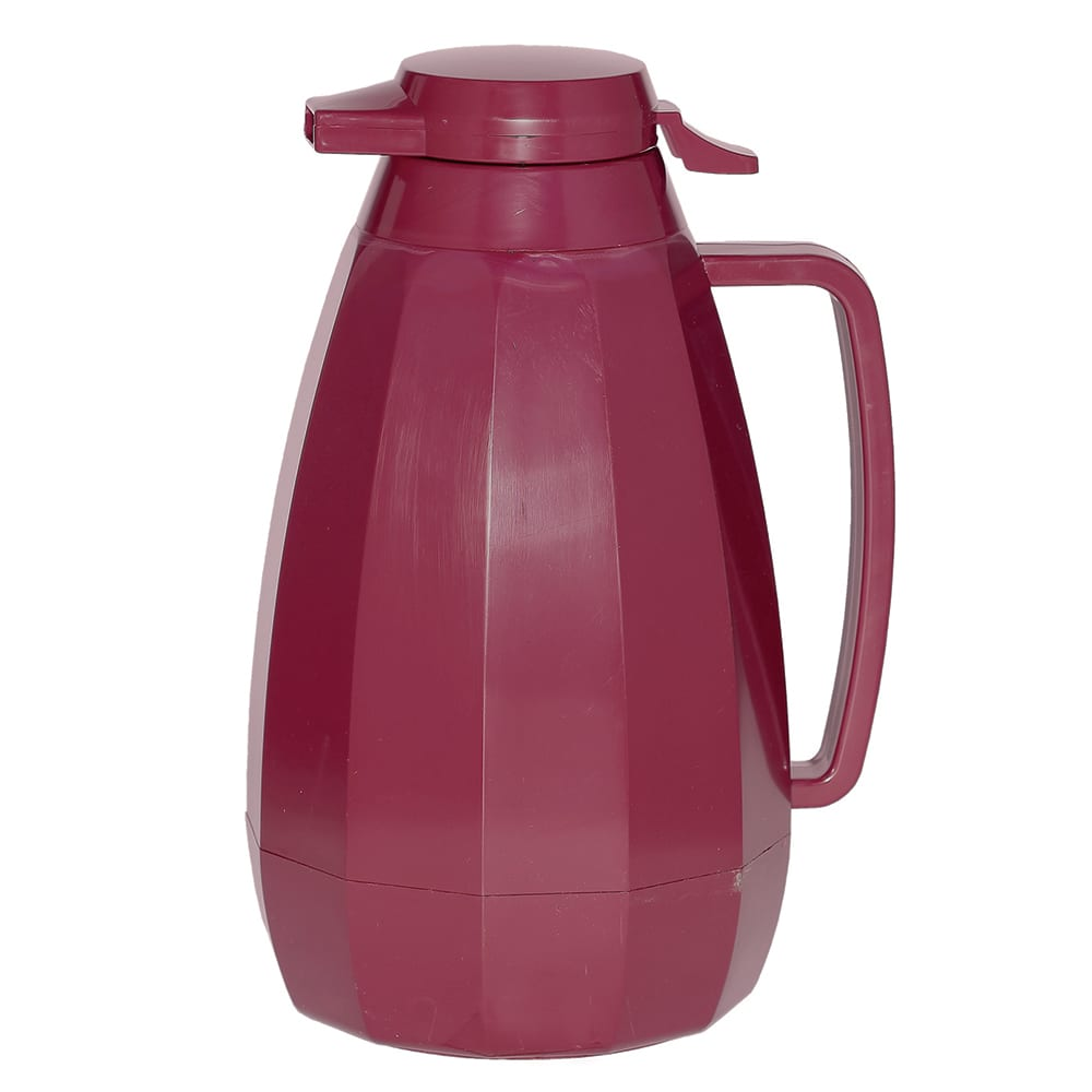 Service Ideas NG421BU 2 liter Coffee Server w/ Push Button Lid, Burgundy
