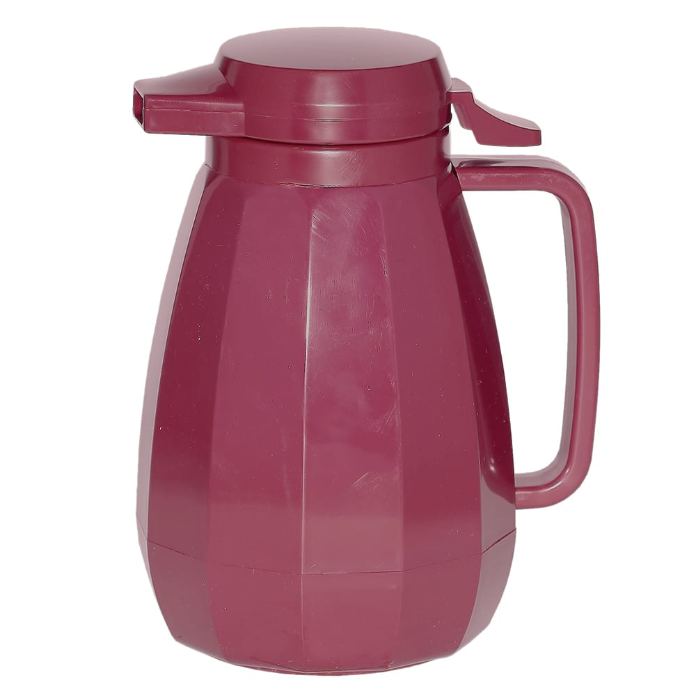 Service Ideas NG501BU .6-liter Coffee Server w/ Push Button Lid, Burgundy