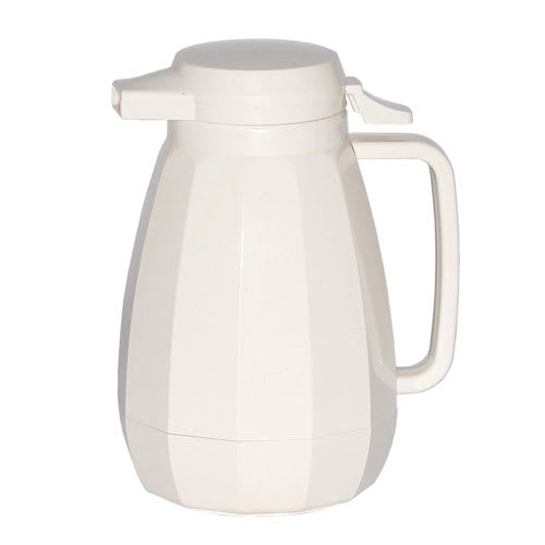 Service Ideas NG501WH .6-liter Coffee Server w/ Push Button Lid, White