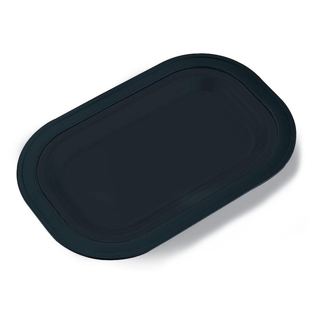 Service Ideas OT11BL Small Platter Base For OT11SS, Rectangular, Stackable, Black