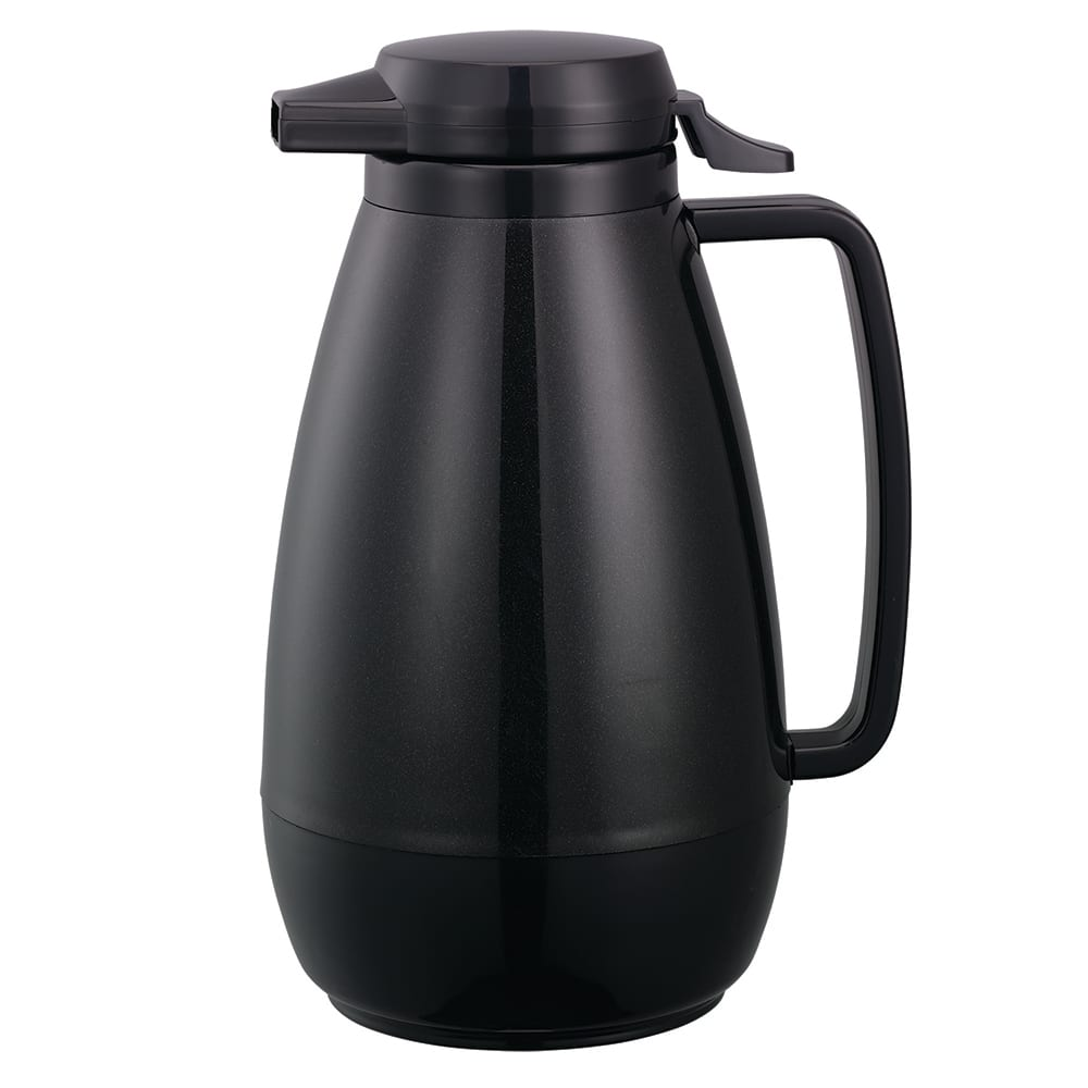 Service Ideas PB101BL 1 liter Coffee Server w/ Push-Button Lid, Black