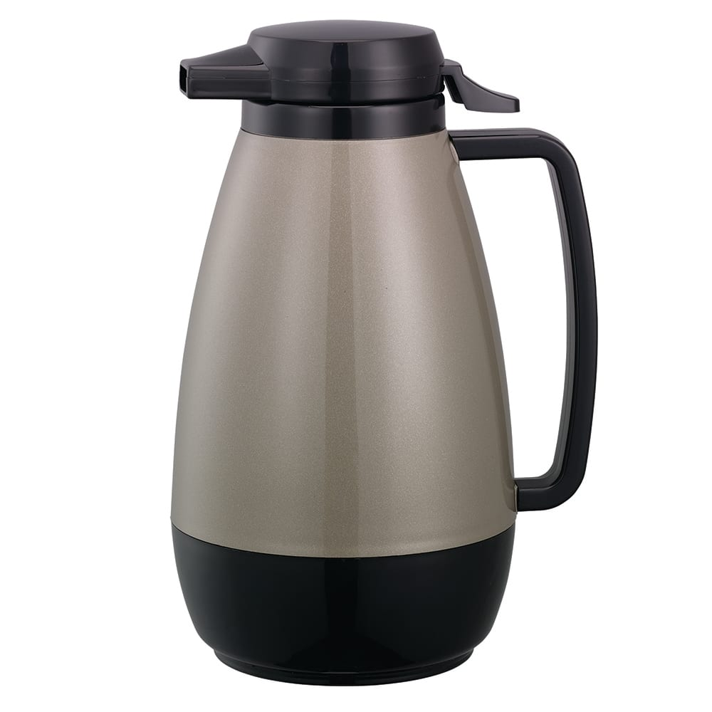 Service Ideas PB101MG 1 liter Coffee Server w/ Push-Button Lid, Metallic Gray