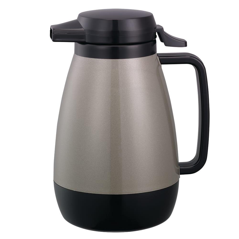 Service Ideas PB501MG .6-liter Coffee Server w/ Push-Button Lid, Metallic Gray
