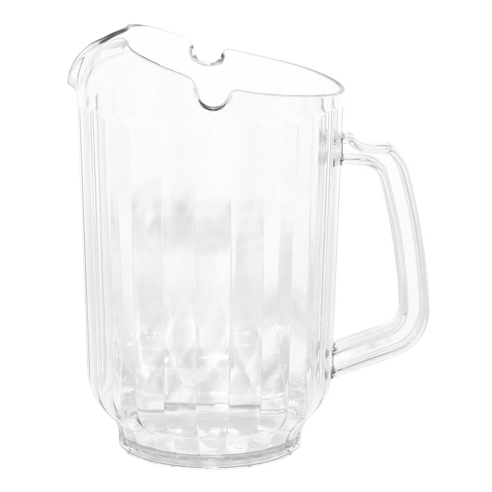 Service Ideas PCP60 60-oz Pitcher, 3-way Pour, Clear