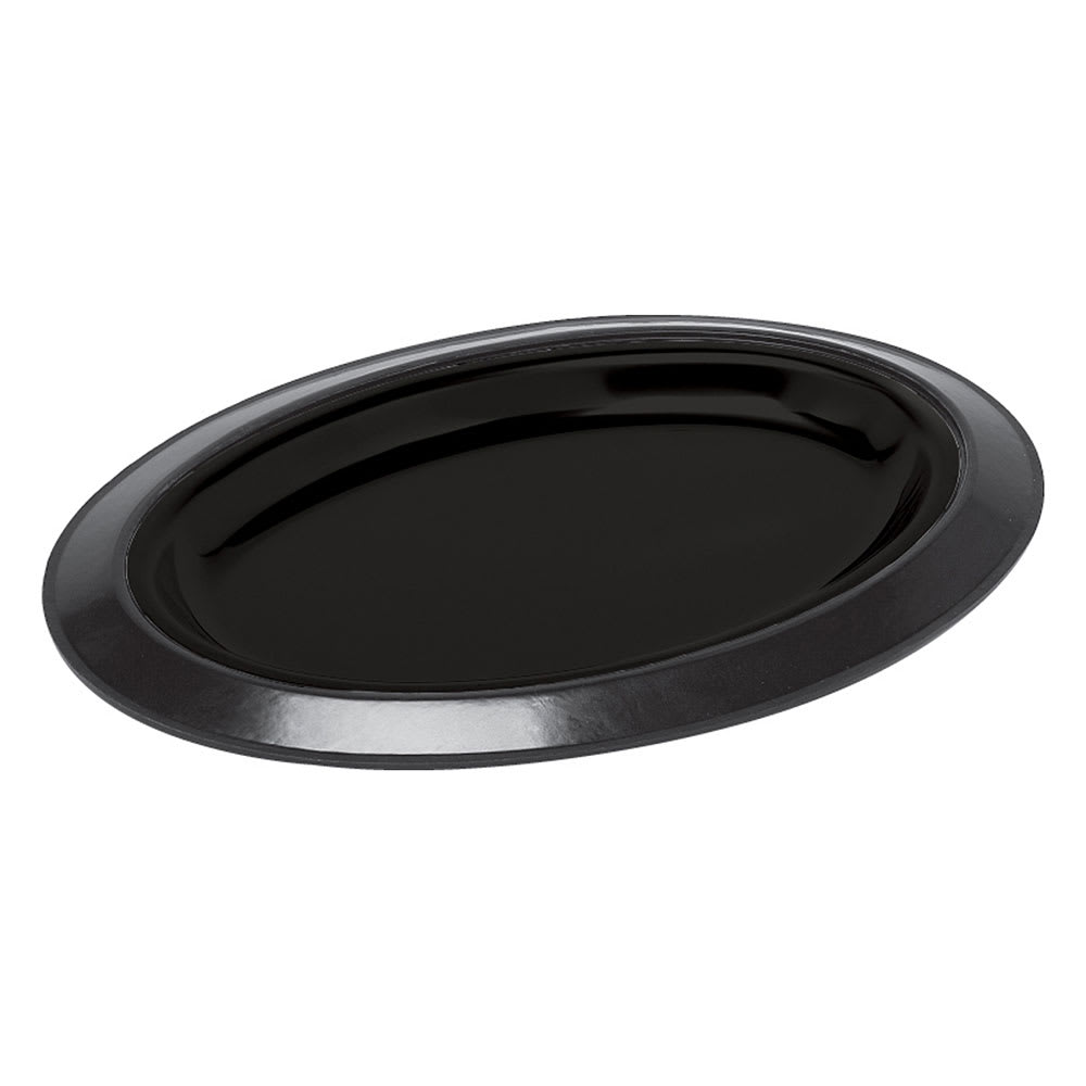Service Ideas RO128BL Oval Platter Base For RO128SS Platters, Stackable, Black