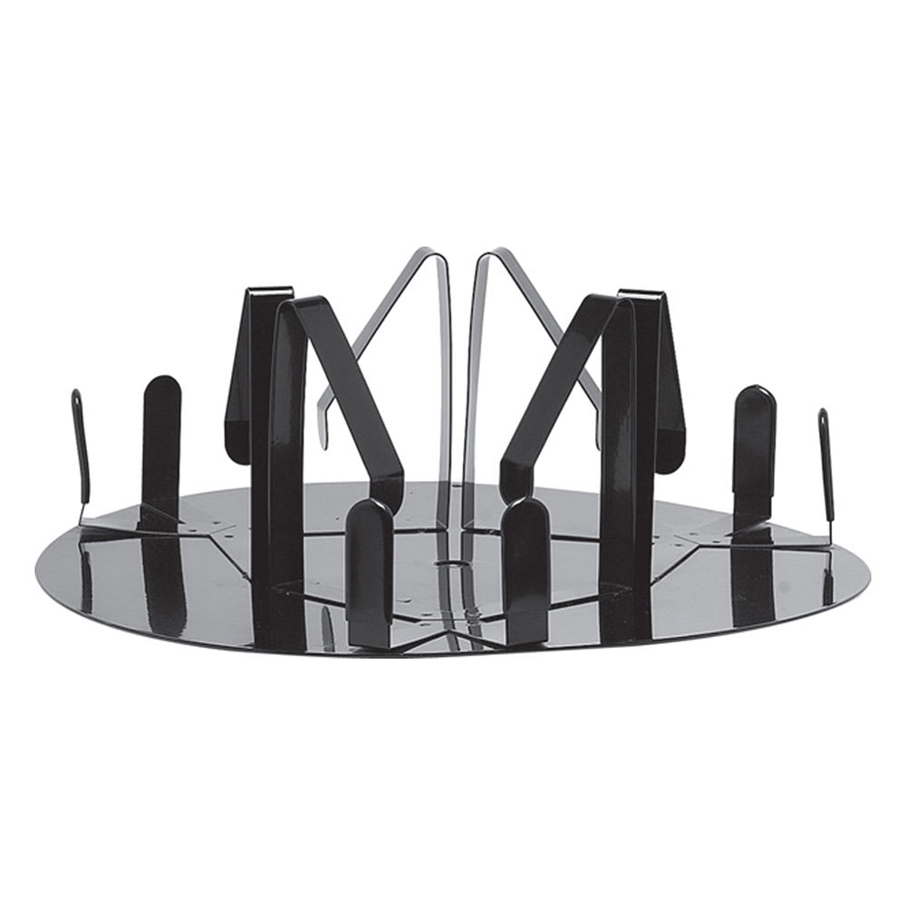 "Service Ideas RRA3V2 Roto Rack w/ 4 x 12"" Drip Tray, Holds 3-Airpots, Black Coating"