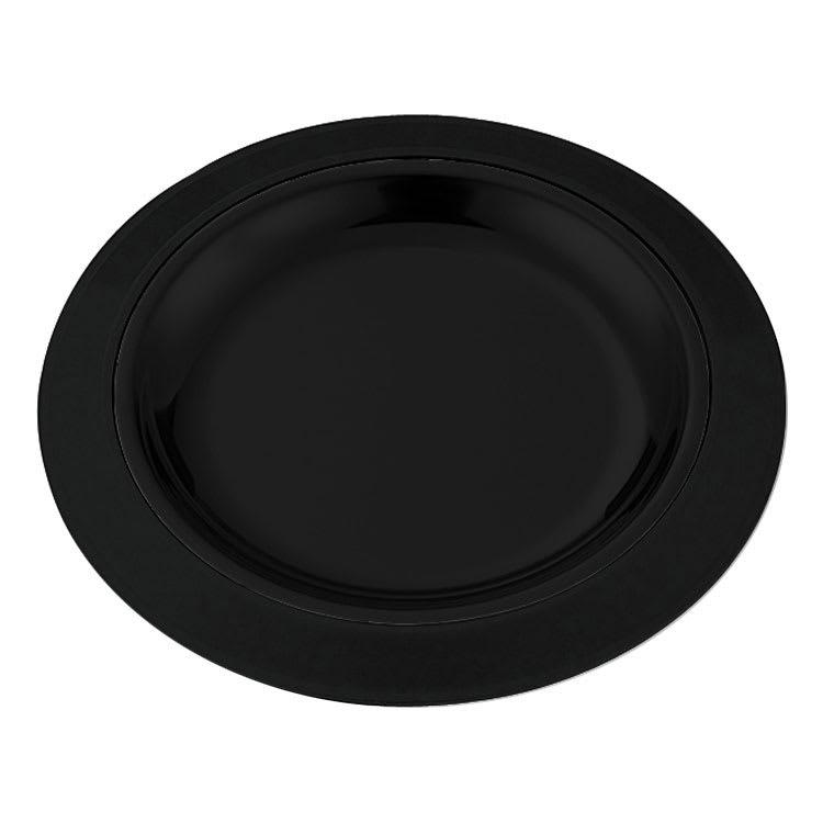 "Service Ideas RT701BL 7"" Round Platter Base for RT7SS Platters, Straight Rim, Black"