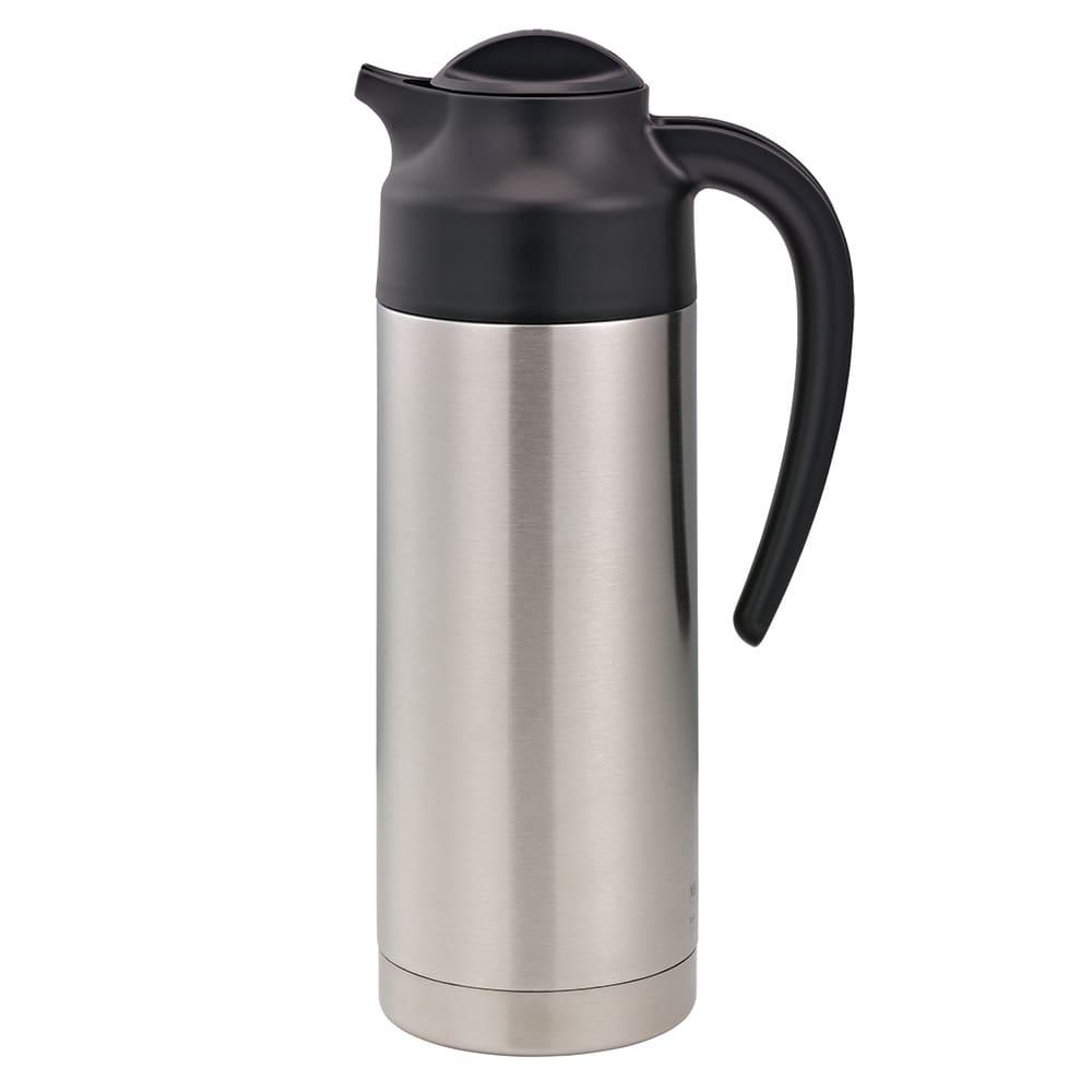 Service Ideas S2SN100 1 liter Vacuum Carafe - 6 hr Heat Retention, Stainless