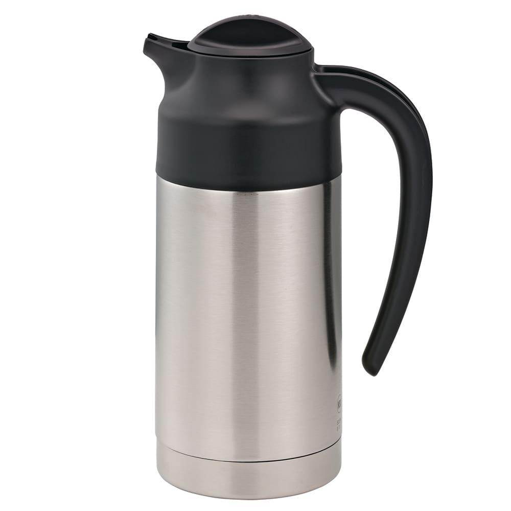 Service Ideas S2SN70 23.6 -oz Vacuum Carafe w/ 6-hr Retention & Double Wall, Smooth Stainless Body