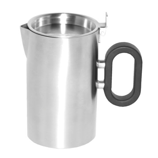 "Service Ideas SB-26 9-oz Creamer w/ Lid, Opens 180-Degrees, 2.5 x 4.2"", Brushed Finished"