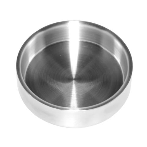 "Service Ideas SB-44 12-oz Serving Bowl w/ Double Wall Insulation, 4 x 1.4"", Brushed Finish"