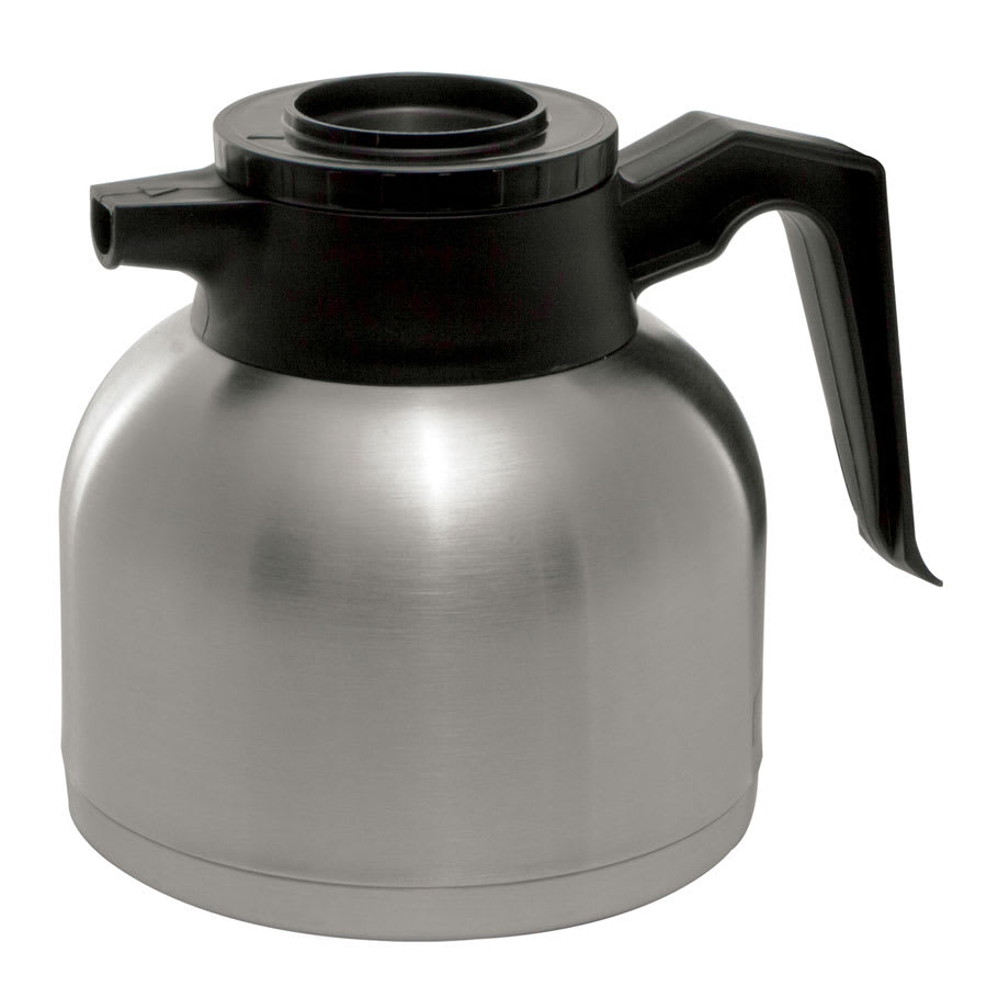 Service Ideas SHS19S Low-Profile 1.9 liter Brew & Pour Server w/ Black Lid, Stainless