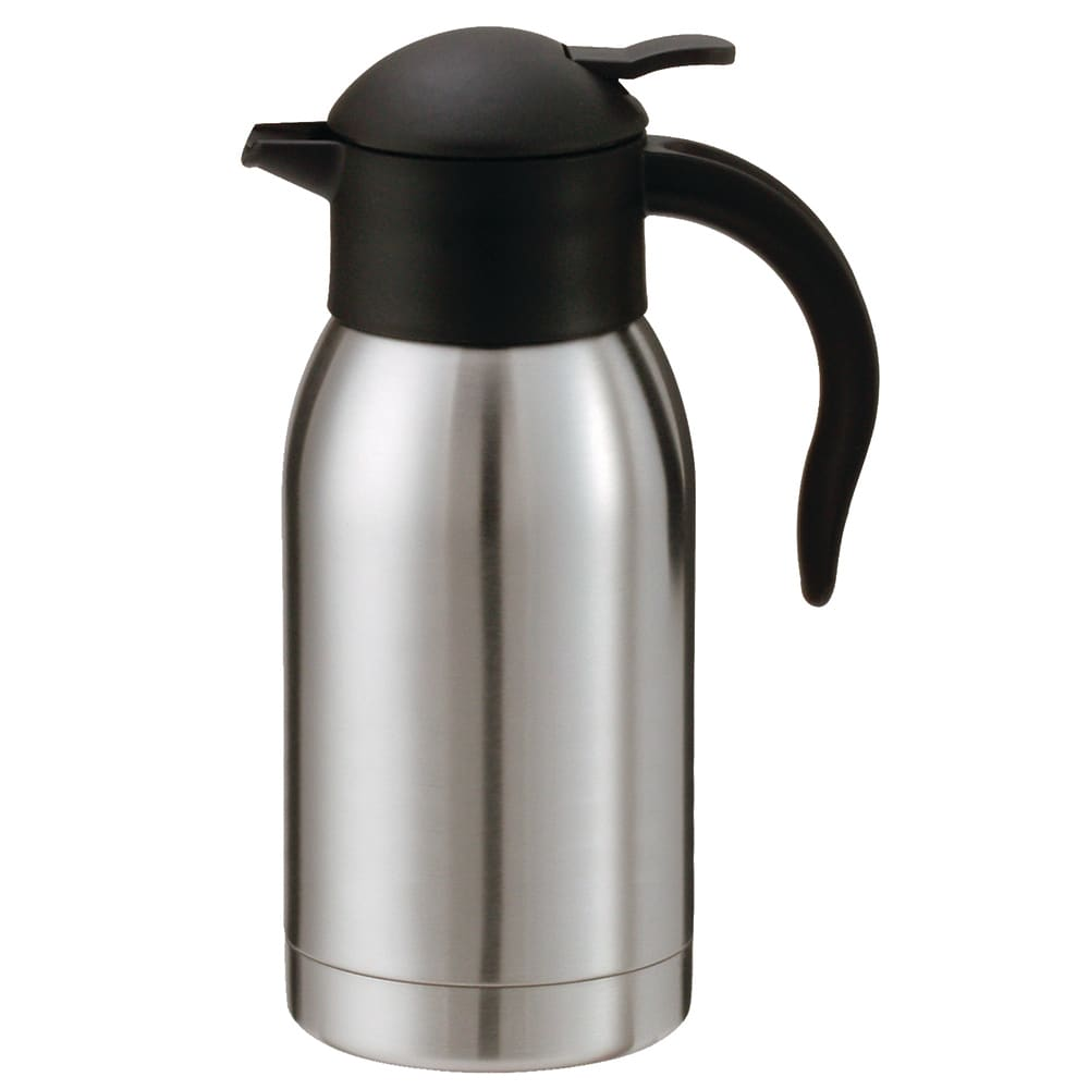 Service Ideas SJ10SS 1-liter Vacuum Carafe w/ Push Button Lid, Stainless