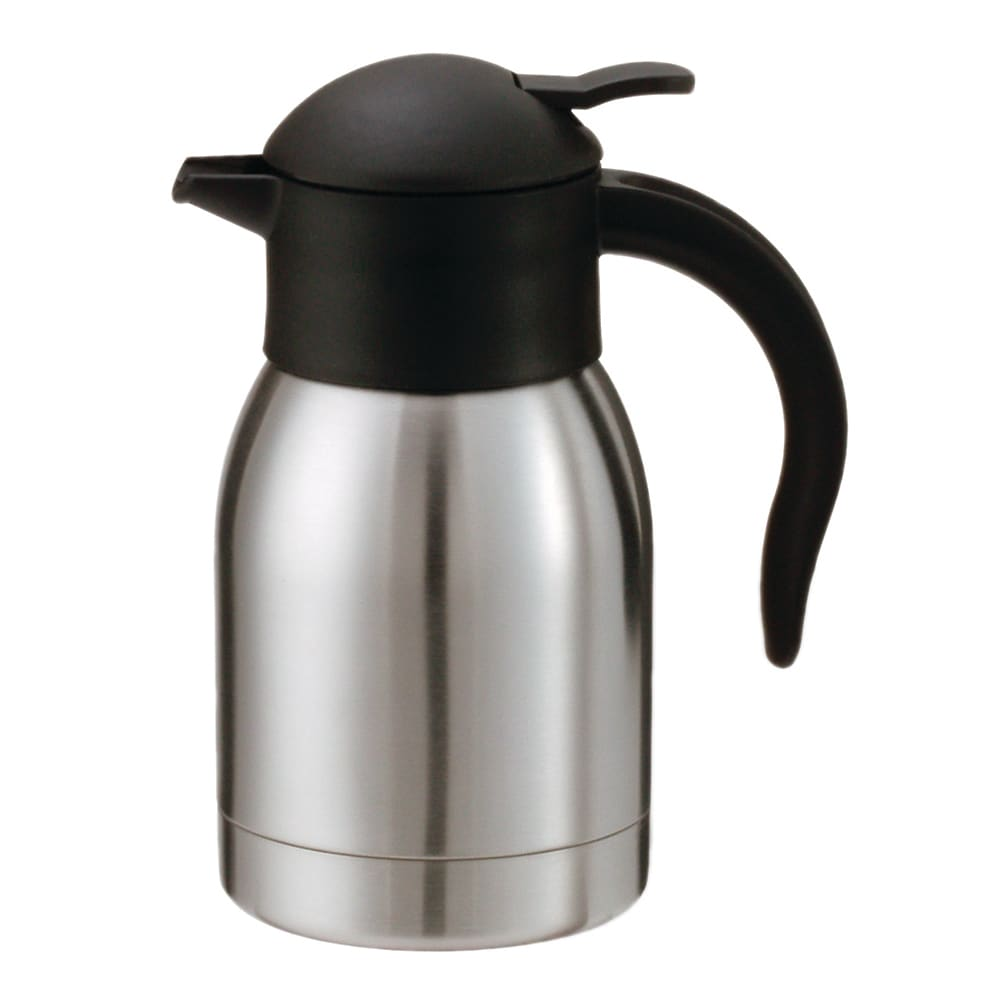 Service Ideas SJ60SS .6 liter Vacuum Carafe w/ Push Button Lid, Stainless