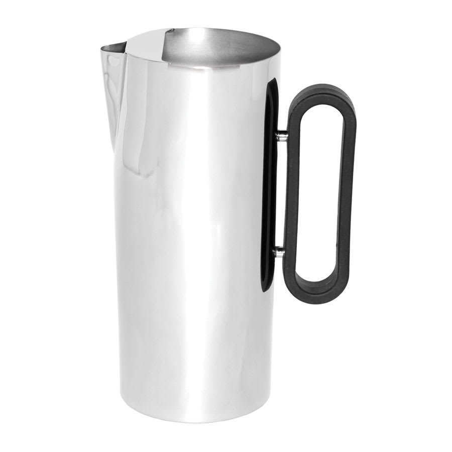 "Service Ideas SM-23 64-oz Water Pitcher w/ Ice Guard, 4.25 x 9.5"", Stainless, Mirror Finish"