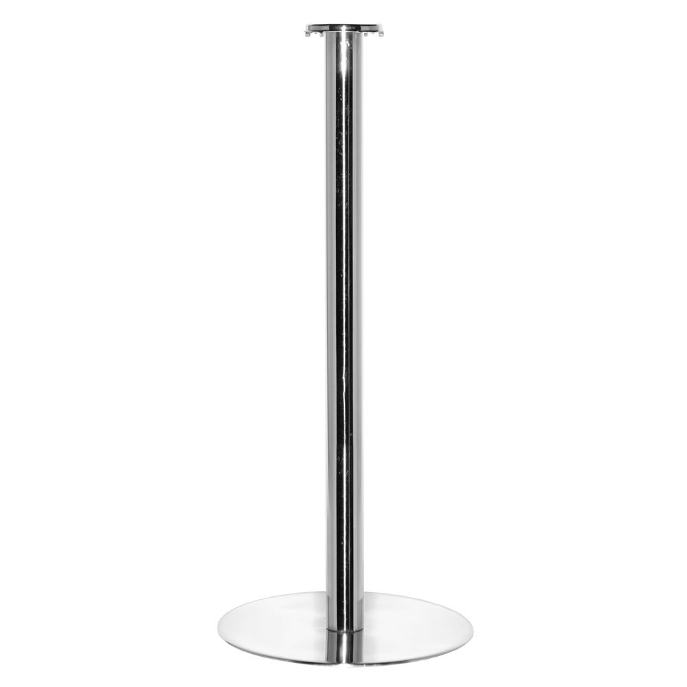 """Service Ideas SM-4 Bucket Stand w/ 25 x 10"""" Base, Stainless, Mirror Finish"""
