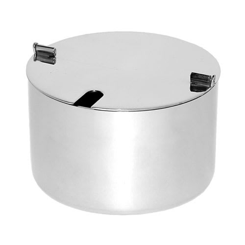 Service Ideas SM-62 17-oz Sugar Bowl, Foldable lid w/ Spoon hole, Stainless, Mirror Finish