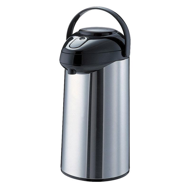 Service Ideas SSA250 2.5-liter Airpot w/ Interchangeable Pump Lid, Stainless & Black