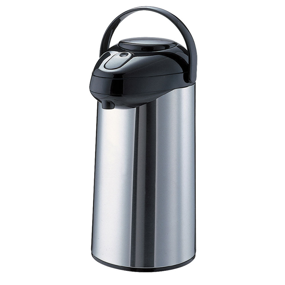 Service Ideas SSA375 126.8 oz Airpot w/ 6 hr Retention, Stainless, Black Finish