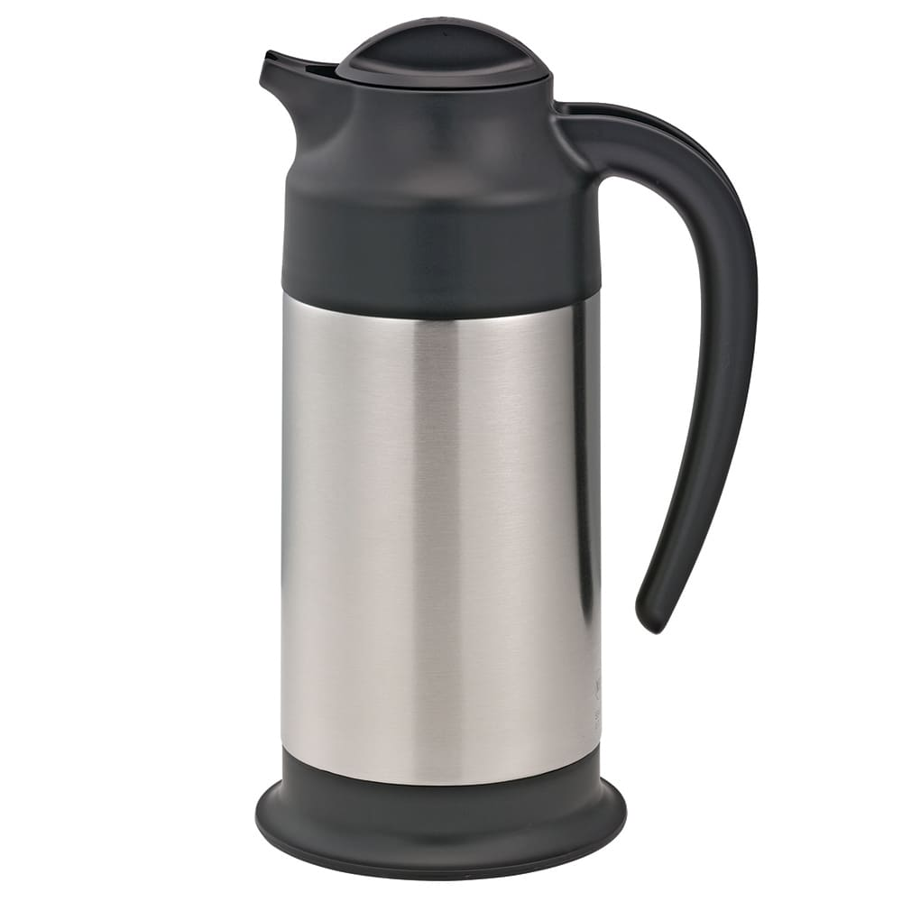 Service Ideas SSN70 23.6-oz Vacuum Carafe w/ 6-hr Retention & Screw-on Lid, Stainless