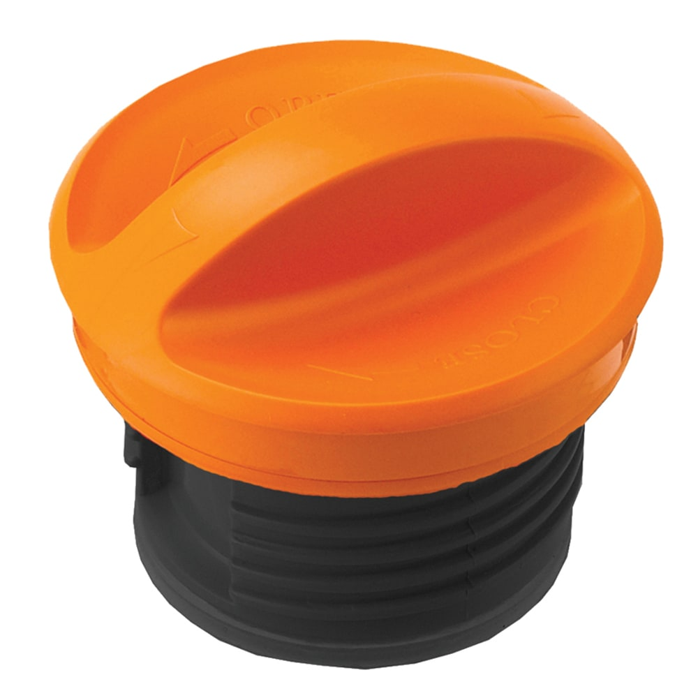 Service Ideas SSNLIDOR Screw-on Replacement Lid for SteelVac SSN70, SSN100, S2SN70 & S2S100, Orange