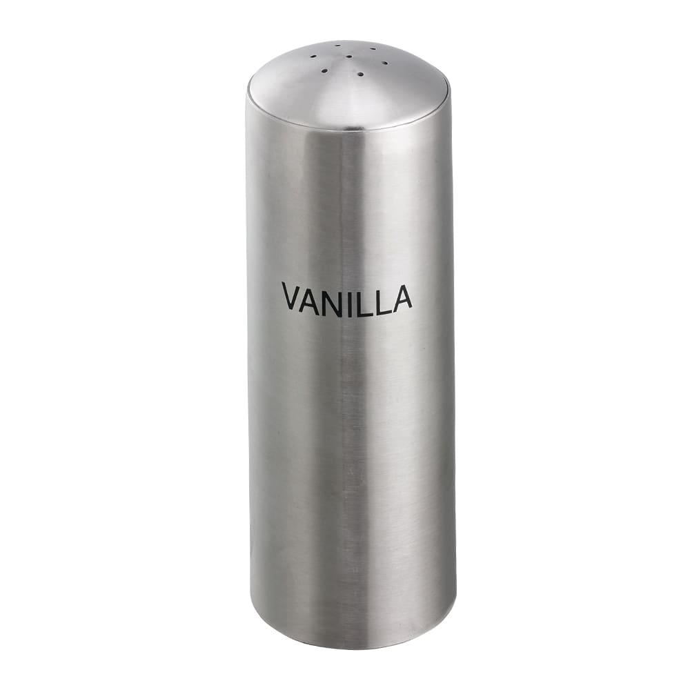 Service Ideas STC7VANILLA 7 Hole Condiment Shaker w/ Vanilla Imprint, Stainless