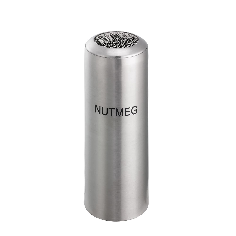 Service Ideas STCMESHNUTM Condiment Shaker w/ Nutmeg Imprint, Stainless