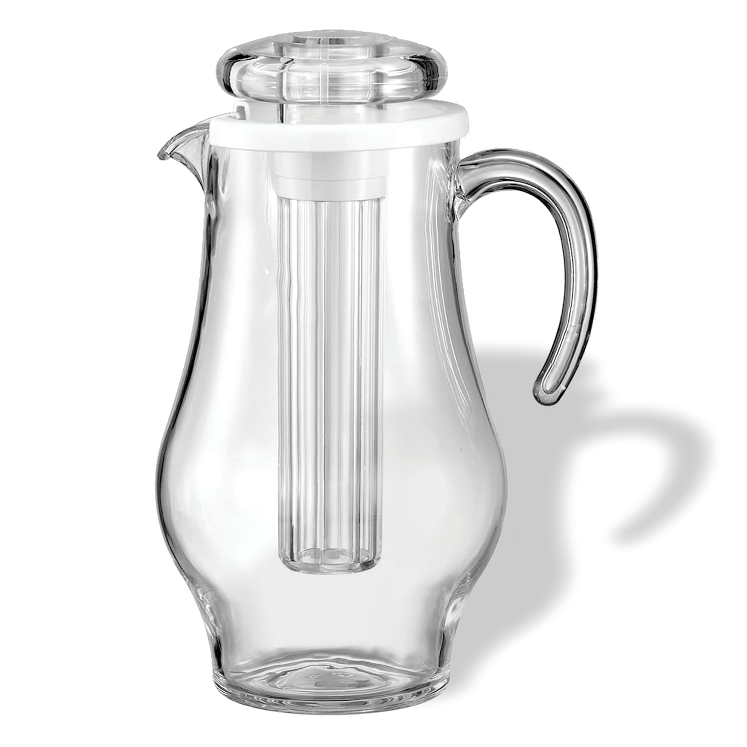 Service Ideas SWP24BS 2.4-liter Water Pitcher w/ Ice Chamber - Plastic, Clear