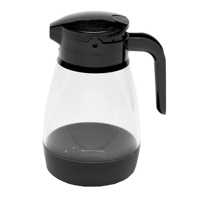 Service Ideas SY916BL 16 oz Dripless Syrup Dispenser w/ Locking Lid, Black