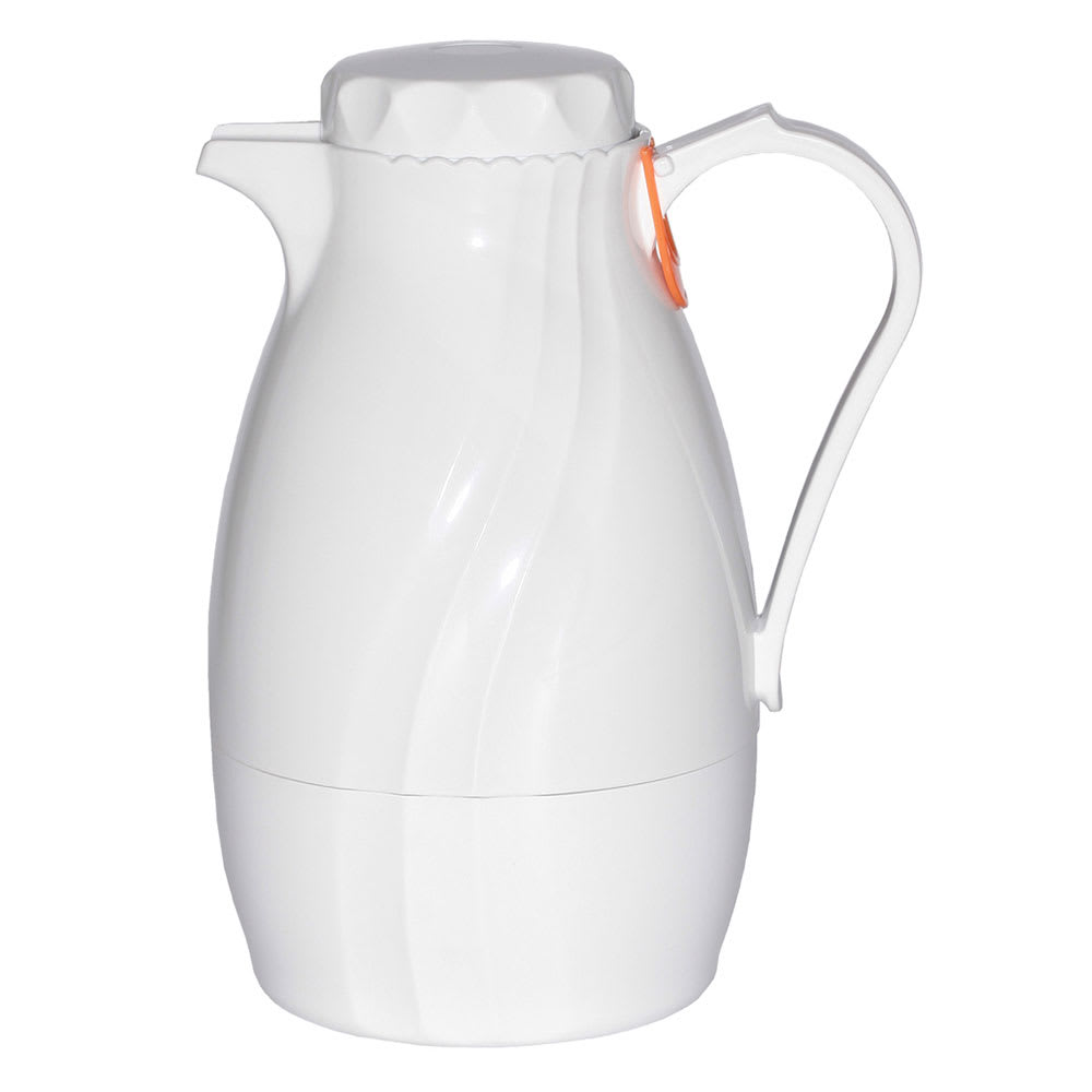 Service Ideas TNS40WH 1.2-liter Coffee Server w/ Twist-On Lid, Content Indicator, White