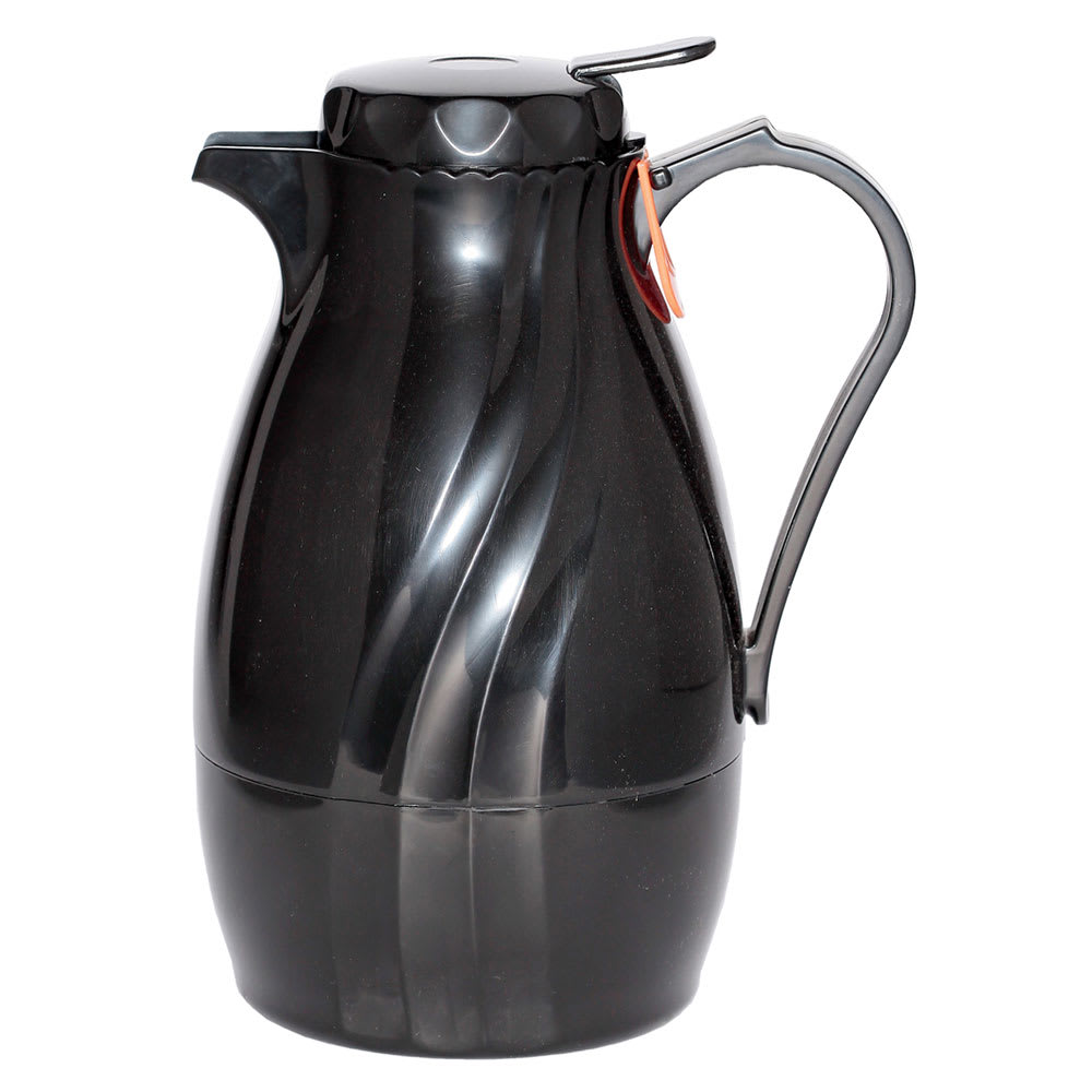 Service Ideas TNSPB20BL .6 liter Twist & Serv Coffee Server w/ Push Button Lid, Black