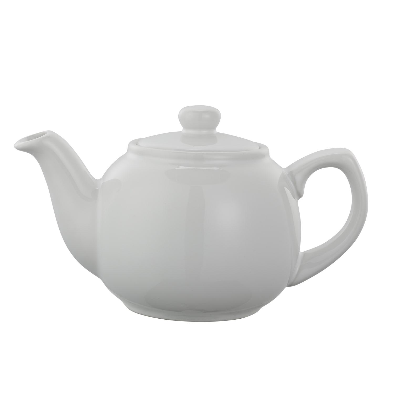 Service Ideas TPCE16WH 16 oz English-Style Teapot, White Ceramic