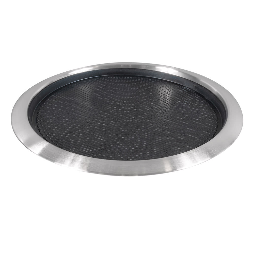 "Service Ideas TR1412RI 14"" Non-Slip Tray w/ Removable Rubber Insert, Stainless"