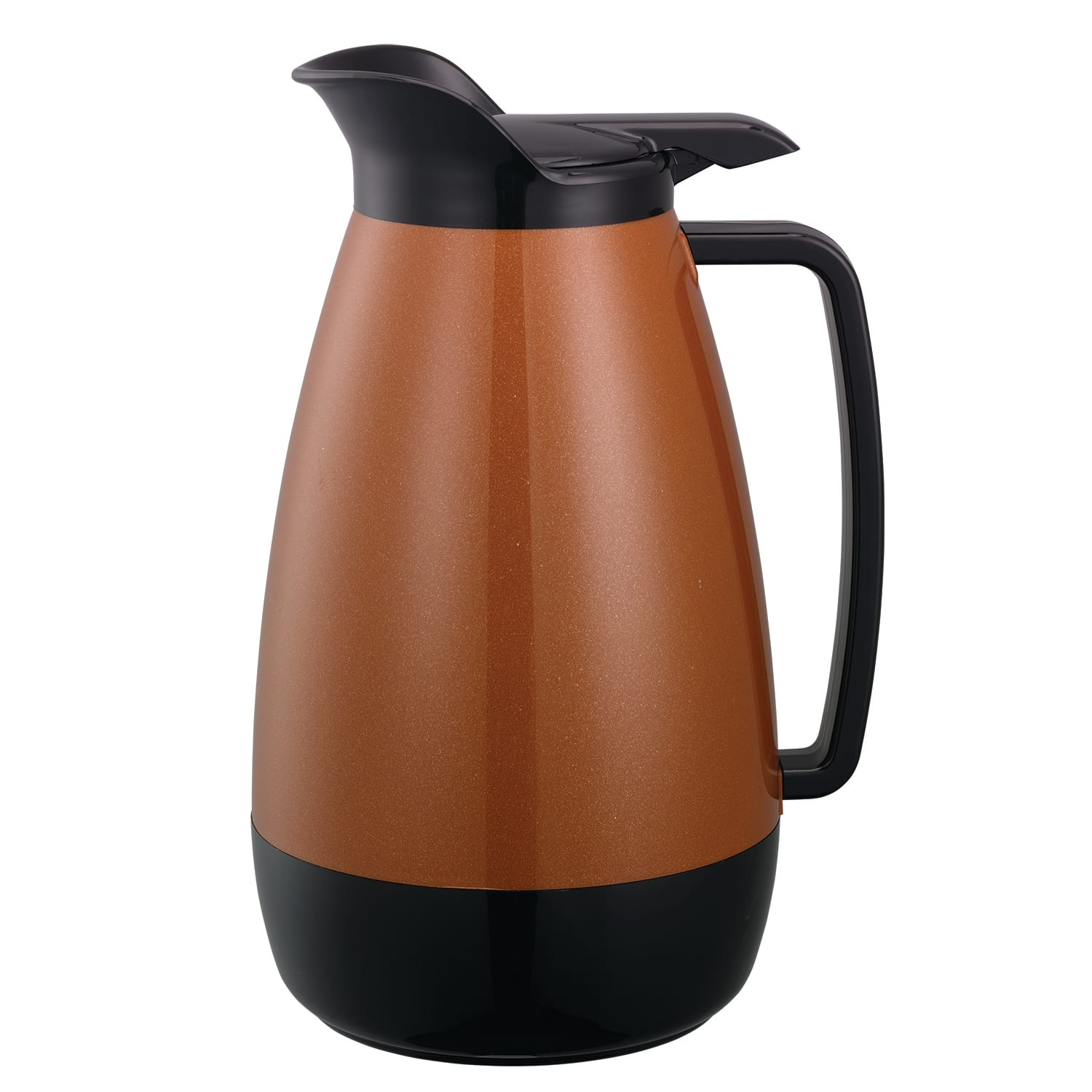 Service Ideas TS411CB 2-liter Coffee Server w/ Flip Top, Smooth Body, Copper & Black