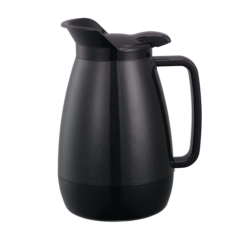 Service Ideas TS501BL .6 liter Coffee Server w/ Flip Top, Smooth Body, Black