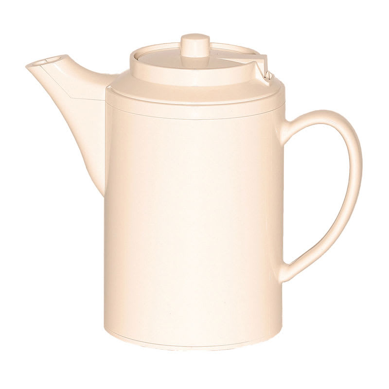 Service Ideas TS612AL 16-oz Dripless Teapot w/ Baffled Spout, Self-Locking Lid, Almond