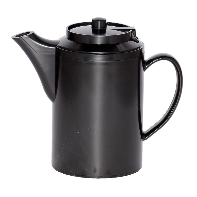 Service Ideas TS612BL 16 oz Dripless Teapot w/ Baffled Spout, Self-Locking Lid, Black
