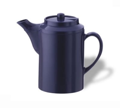 Service Ideas TS612CBT 16-oz Dripless Teapot w/ Baffled Spout, Cobalt Blue