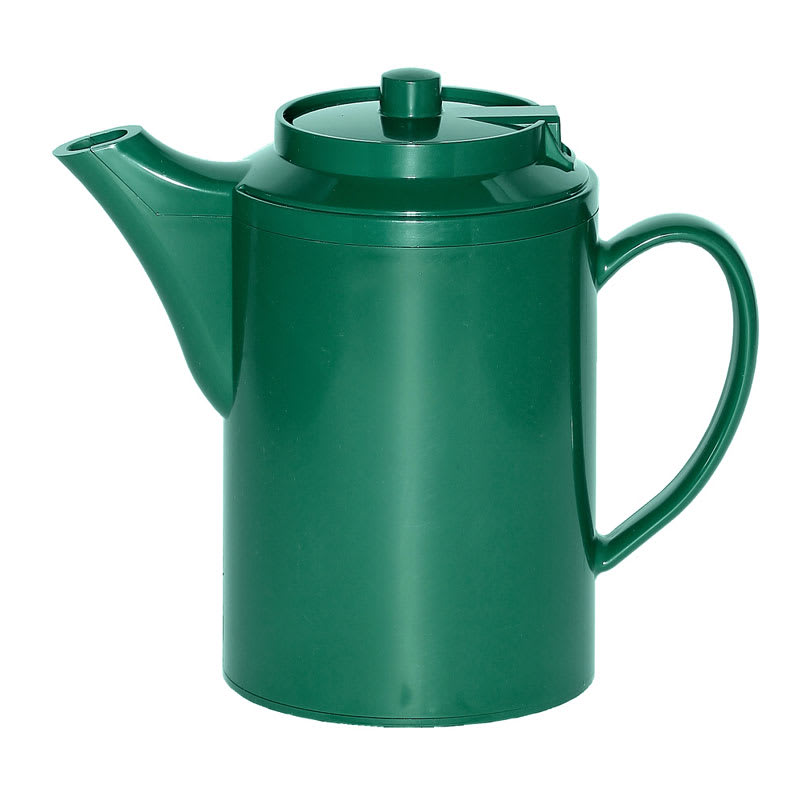 Service Ideas TS612FG 16-oz Dripless Teapot w/ Baffled Spout, Forest Green