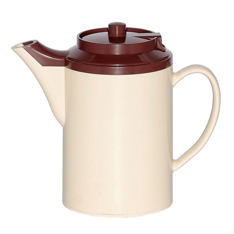 Service Ideas TS612ST/BR 16 oz Dripless Teapot w/ Baffled Spout, Stoneware & Brown